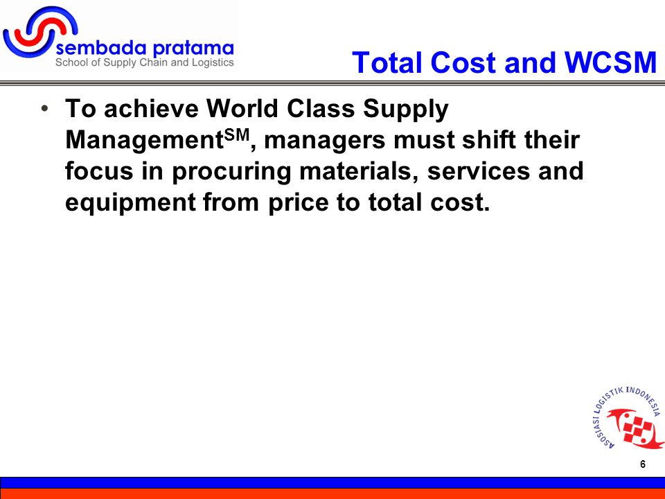 Total Cost and WCSM