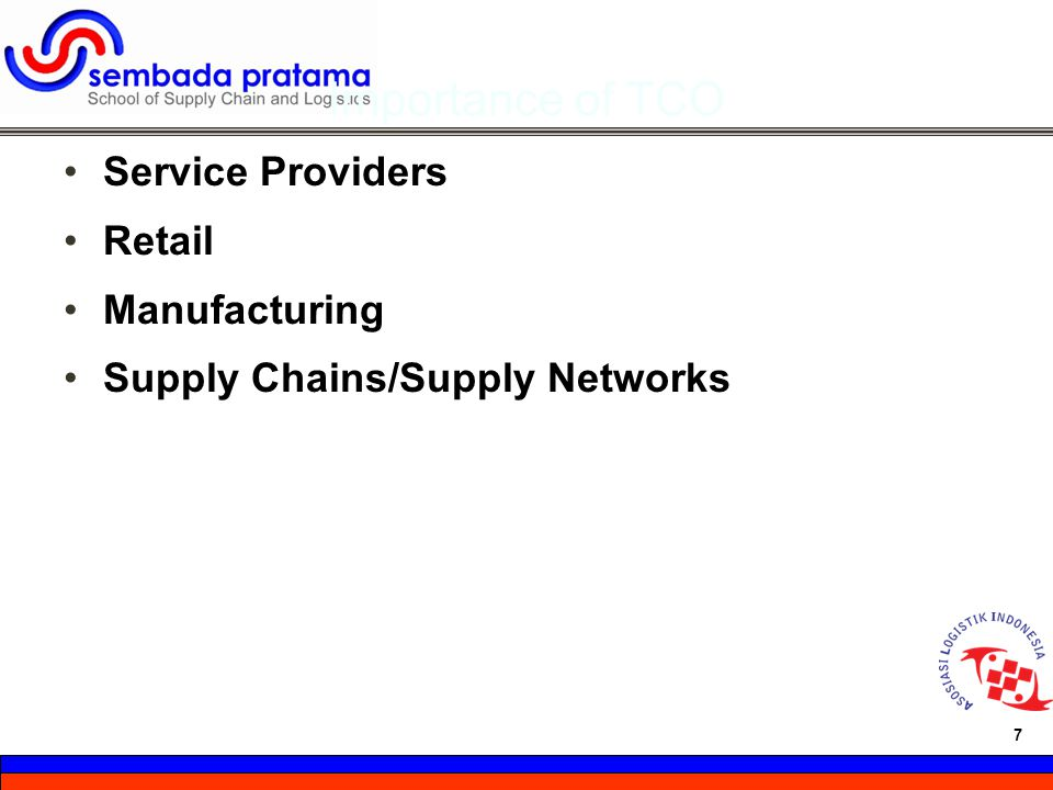 Importance of TCO Service Providers Retail Manufacturing