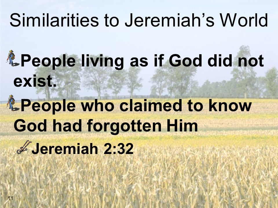 Similarities to Jeremiah's World