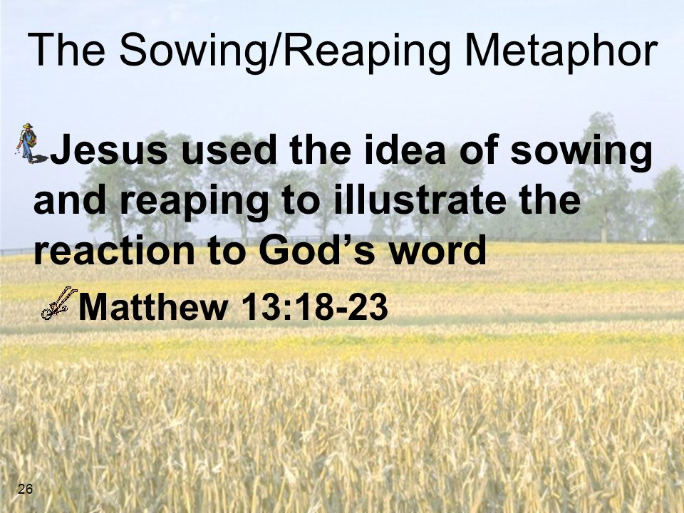The Sowing/Reaping Metaphor