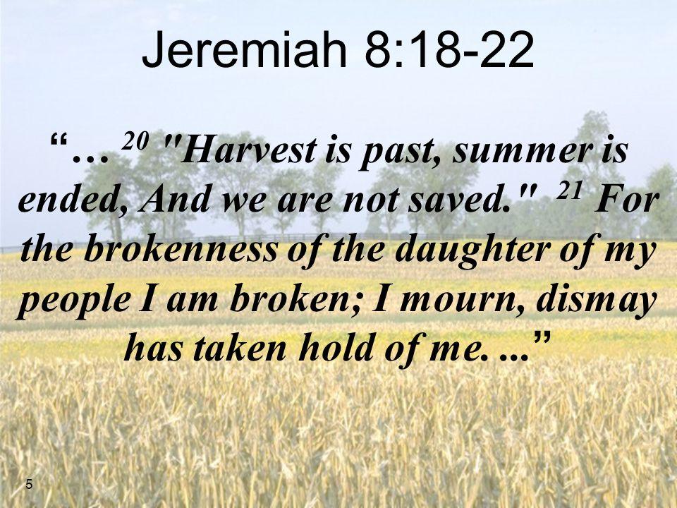 Jeremiah 8:18-22