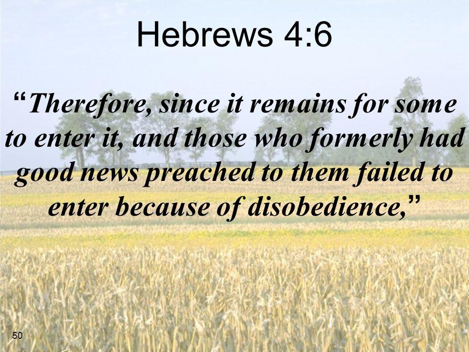 Hebrews 4:6