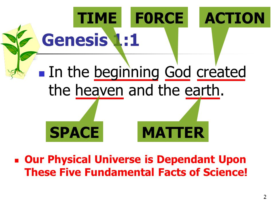 Genesis 1:1 TIME F0RCE ACTION