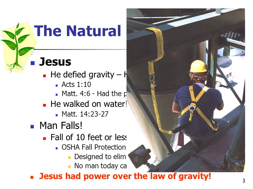 The Natural Law Of Gravity!
