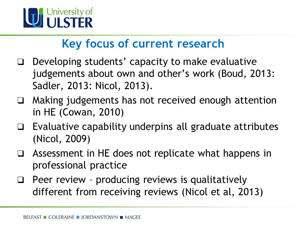 Key focus of current research