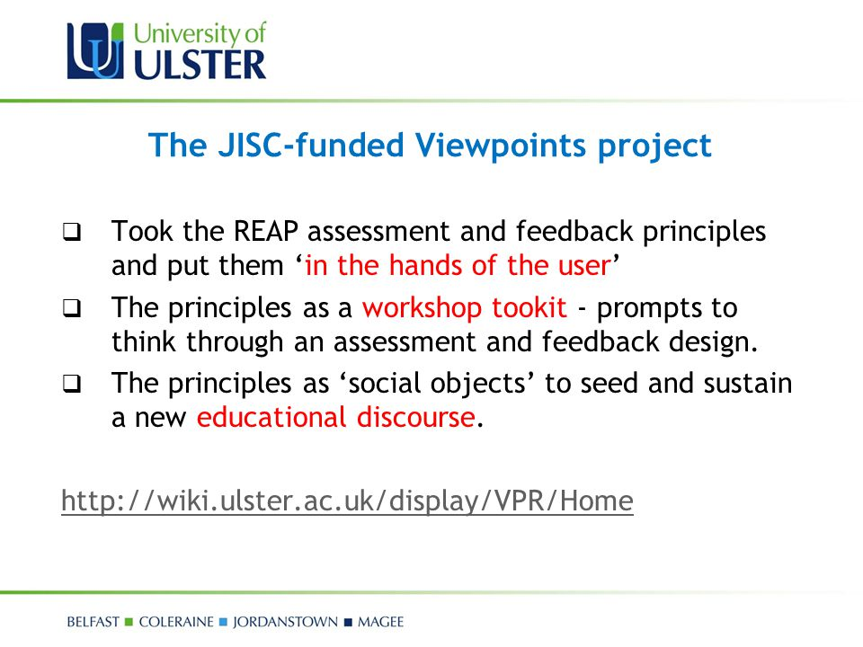 The JISC-funded Viewpoints project