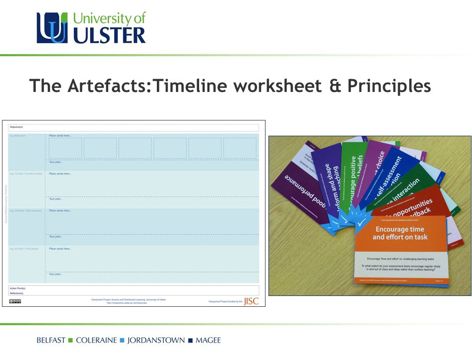 The Artefacts:Timeline worksheet & Principles