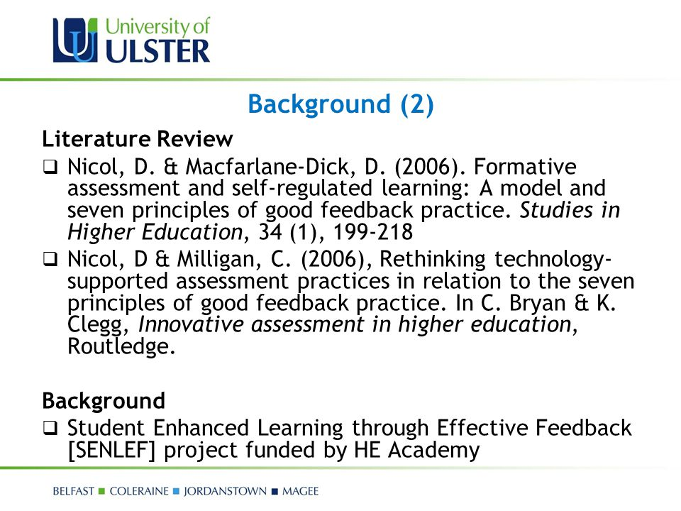 Background (2) Literature Review