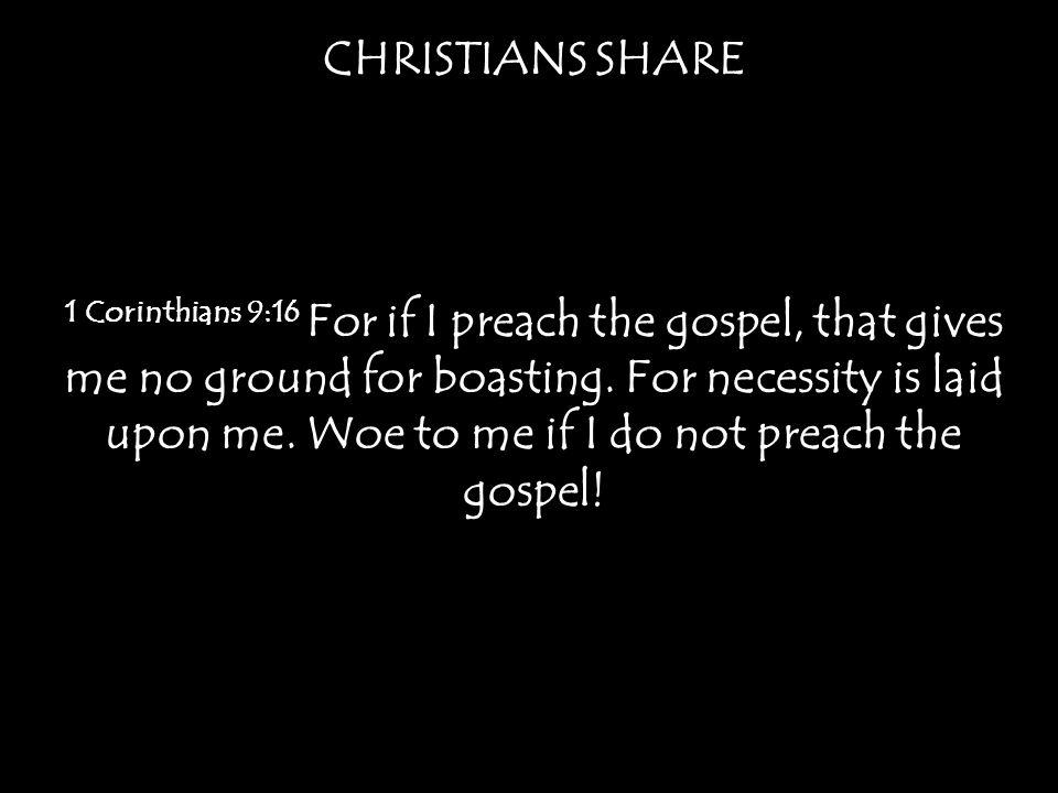 CHRISTIANS SHARE