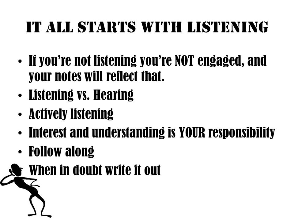 It All Starts With Listening