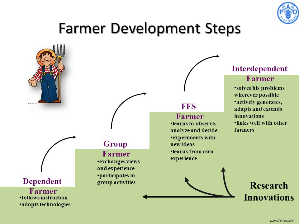Farmer Development Steps