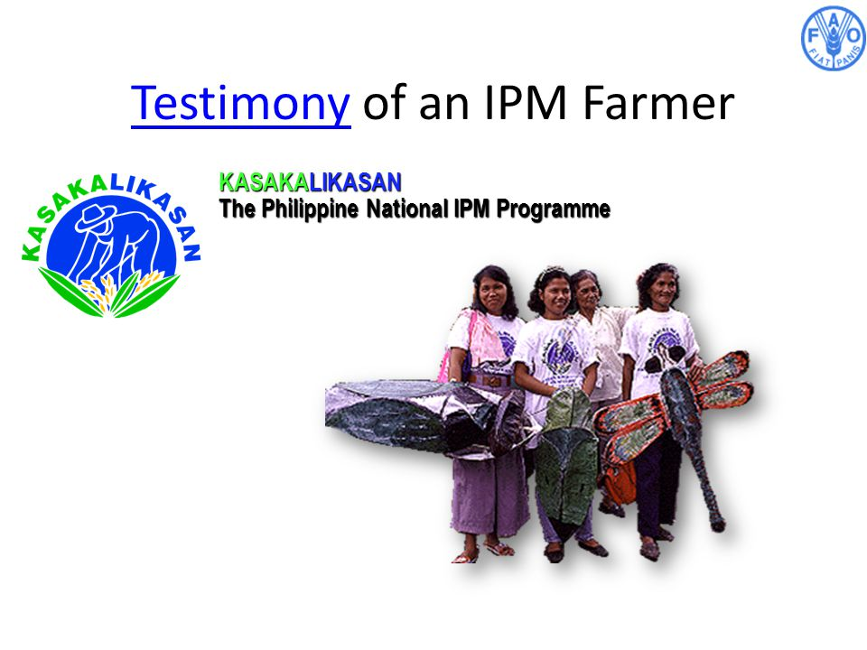 Testimony of an IPM Farmer