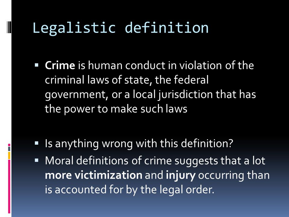 Legalistic definition