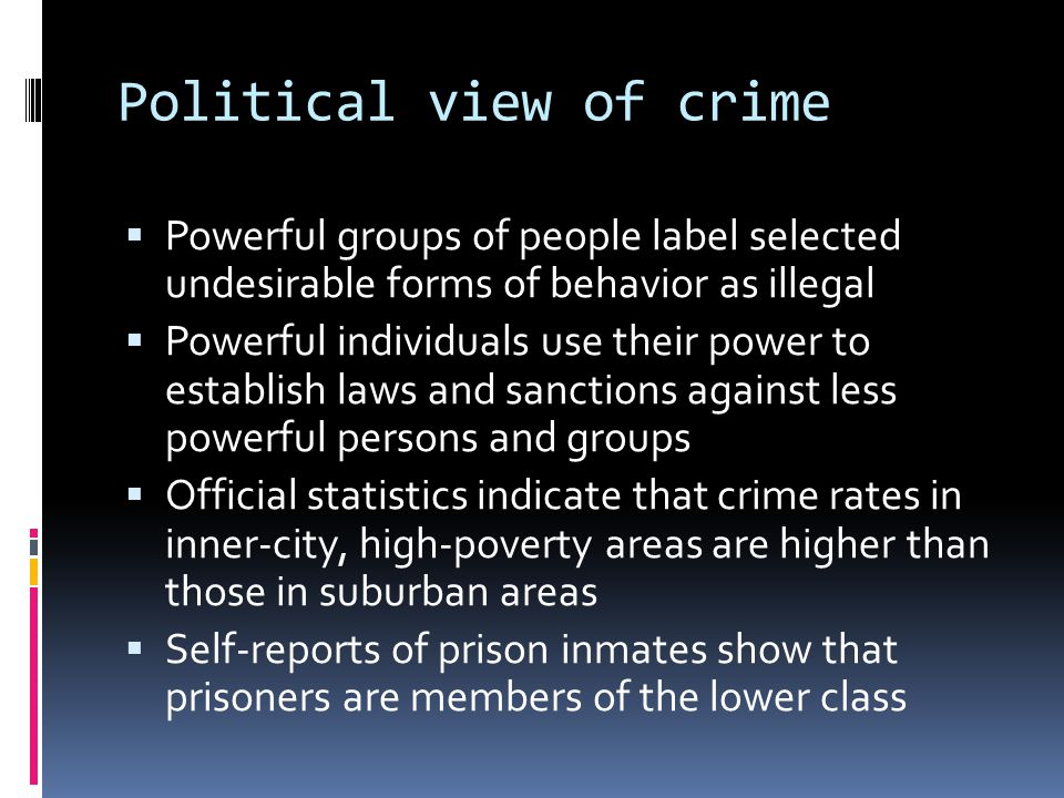 Political view of crime