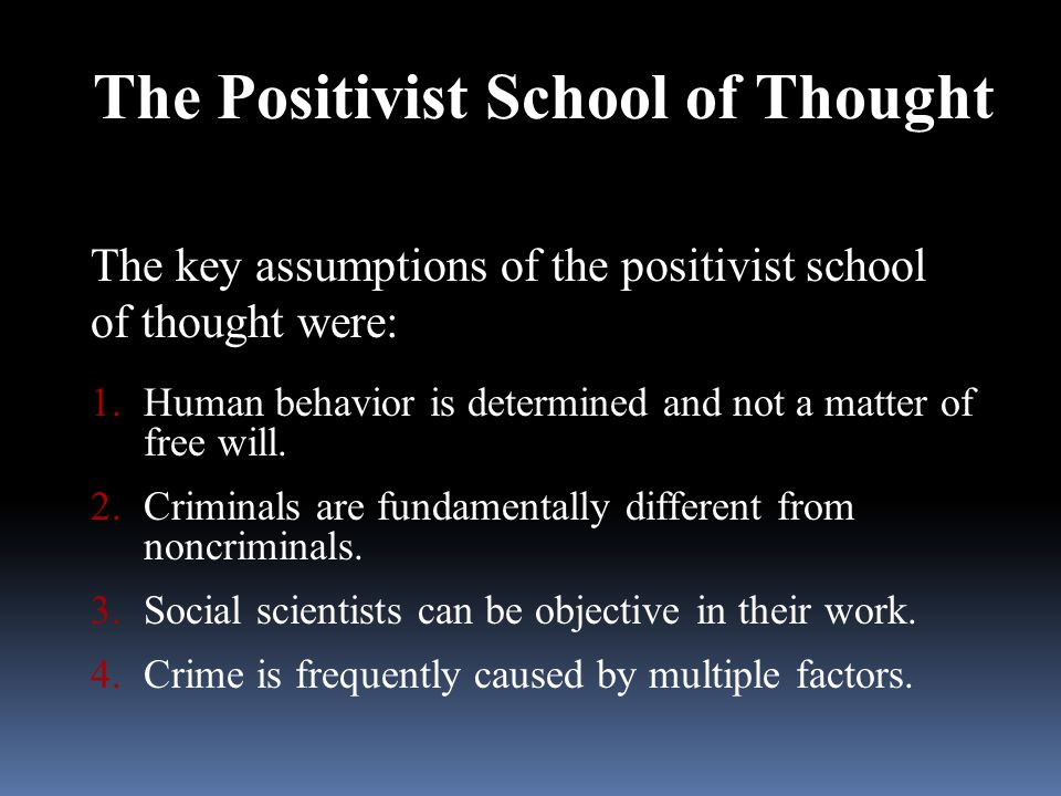 The Positivist School of Thought
