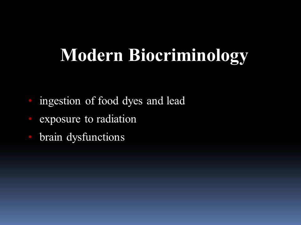 Modern Biocriminology