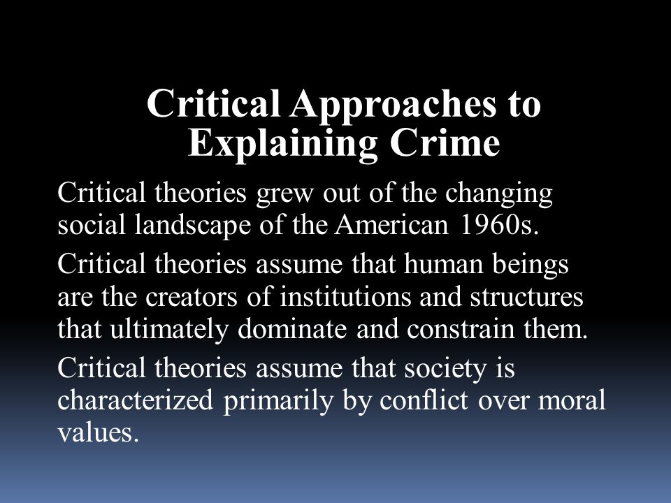 Critical Approaches to