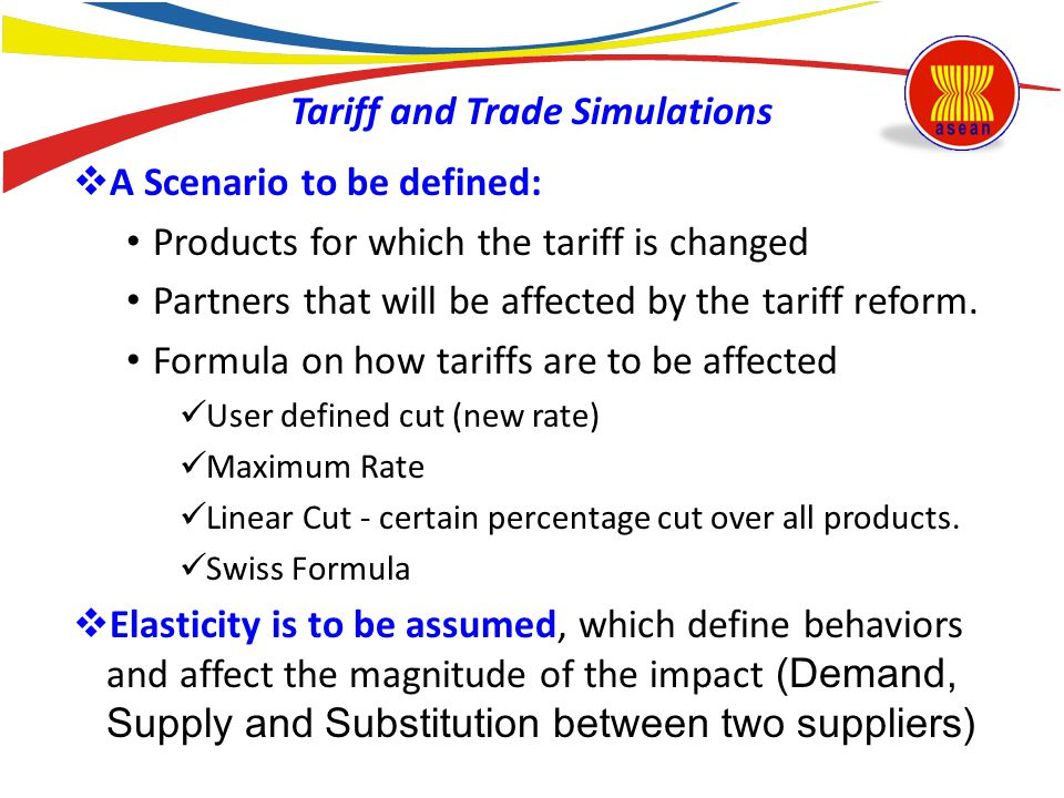 Tariff and Trade Simulations