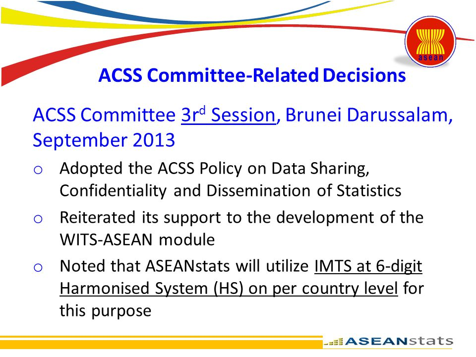 ACSS Committee-Related Decisions