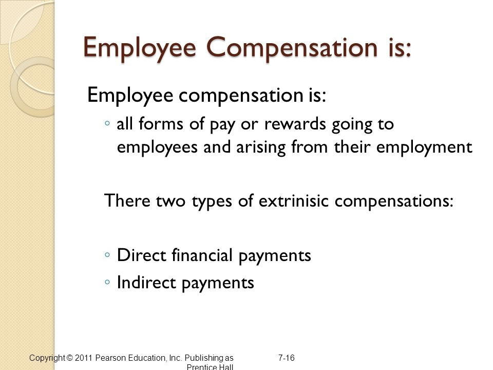 Employee Compensation is: