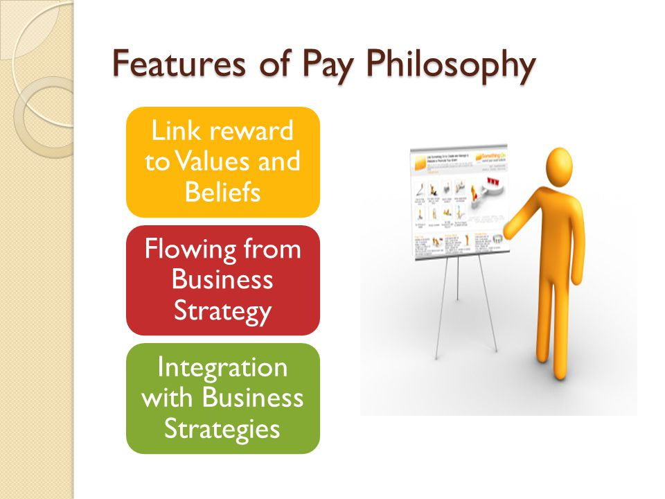 Features of Pay Philosophy