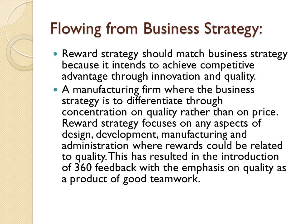 Flowing from Business Strategy: