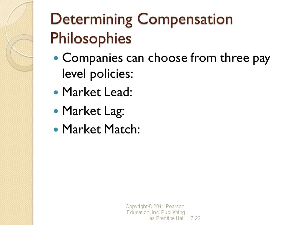 Determining Compensation Philosophies