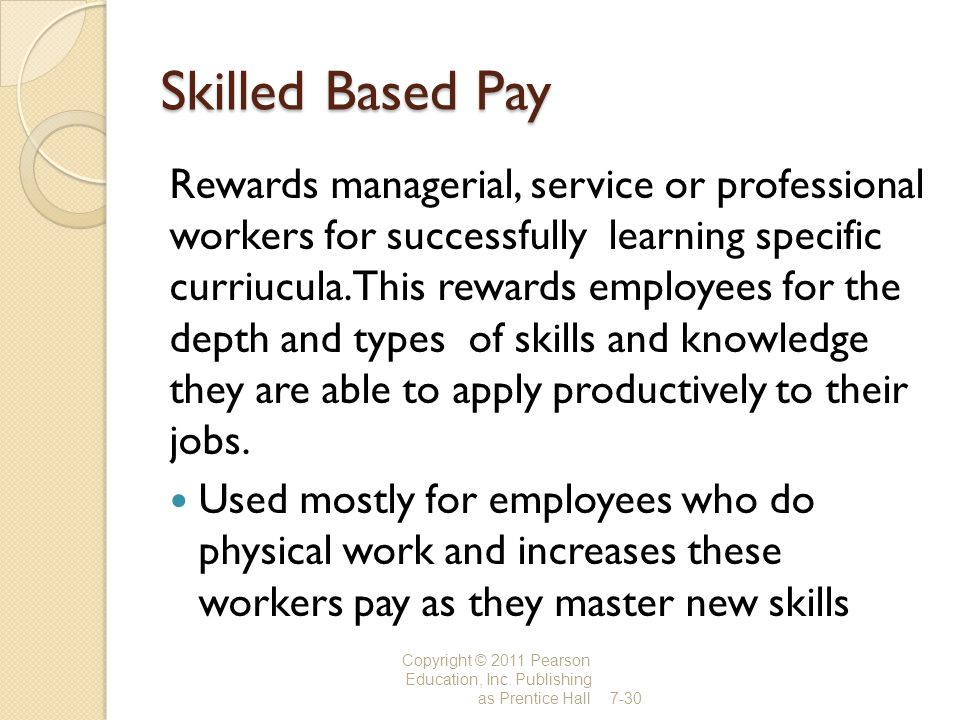 Skilled Based Pay