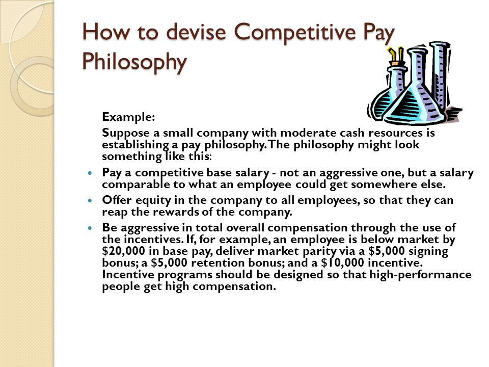 How to devise Competitive Pay Philosophy