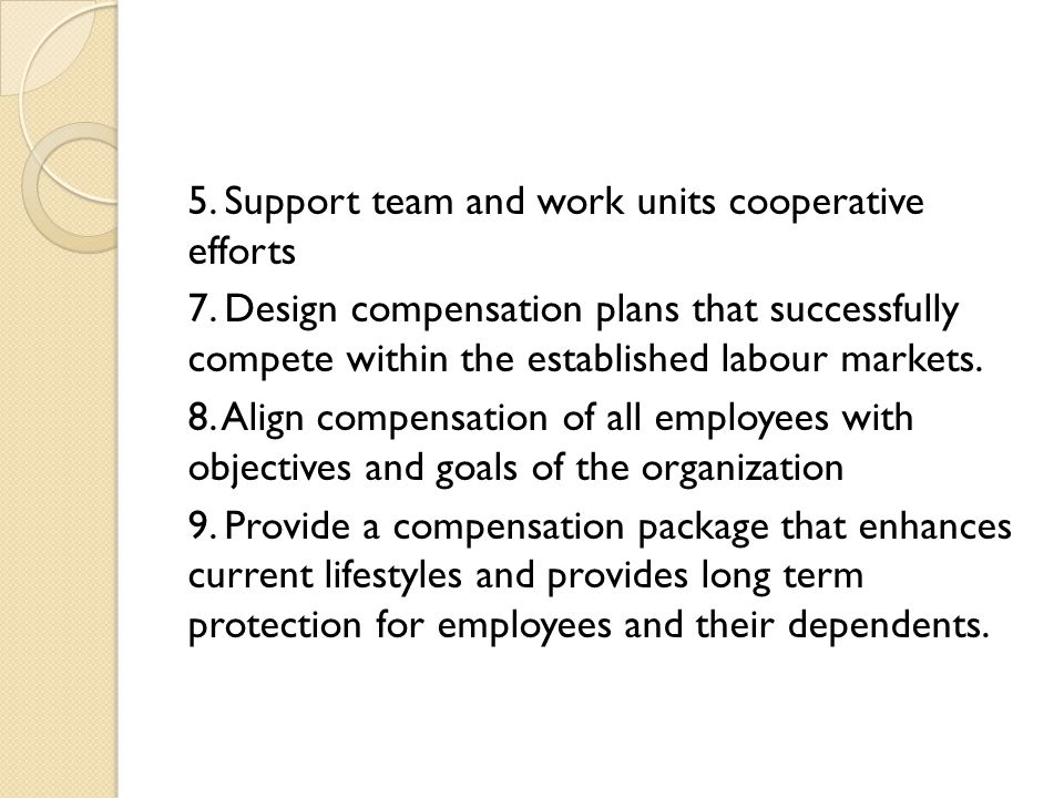 5. Support team and work units cooperative efforts 7