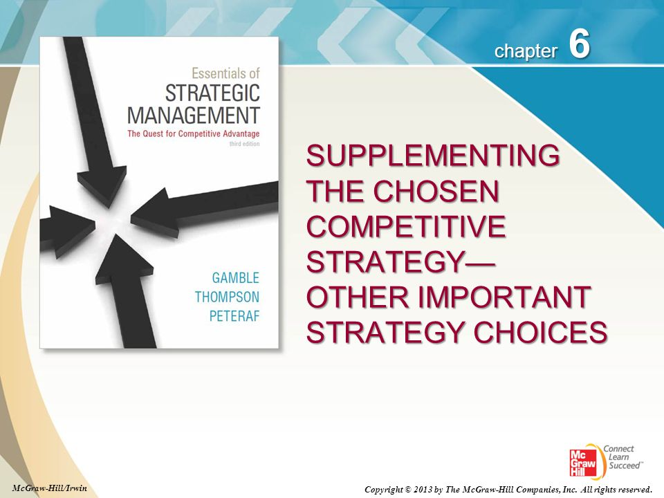 SUPPLEMENTING THE CHOSEN COMPETITIVE STRATEGY— OTHER IMPORTANT STRATEGY CHOICES