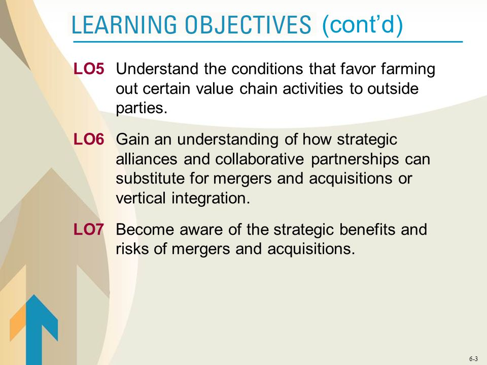 LO5 Understand the conditions that favor farming out certain value chain activities to outside parties.