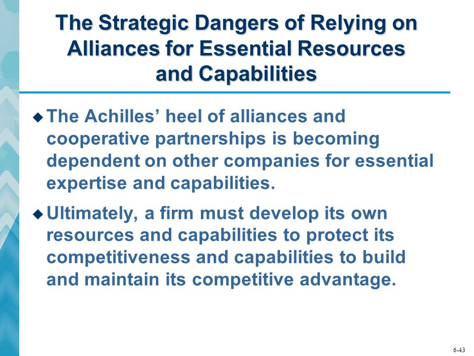 The Strategic Dangers of Relying on Alliances for Essential Resources and Capabilities