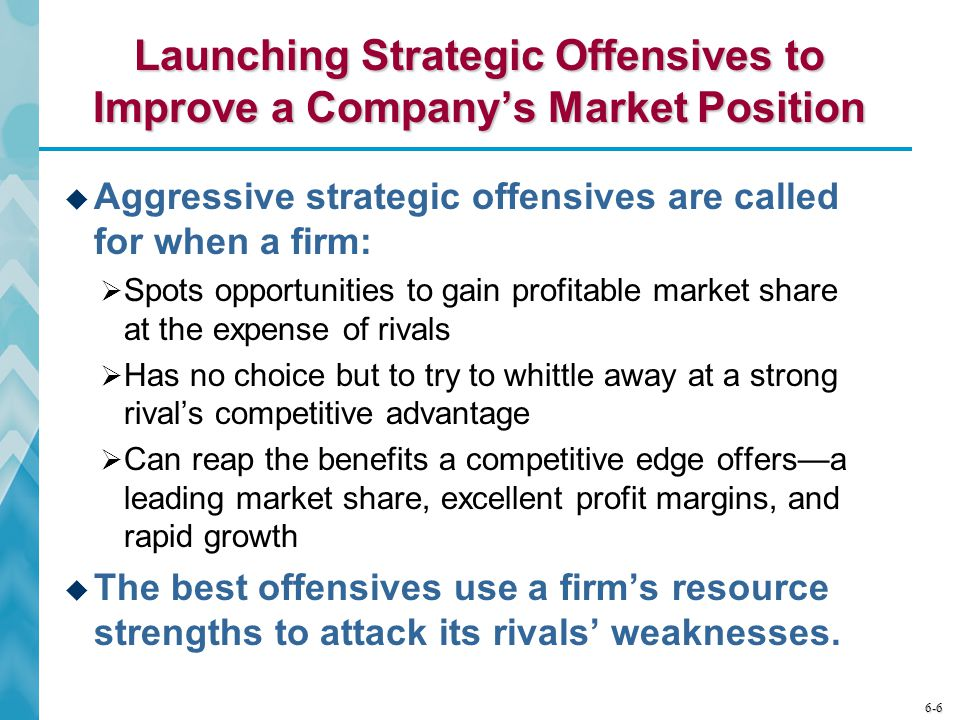Launching Strategic Offensives to Improve a Company's Market Position