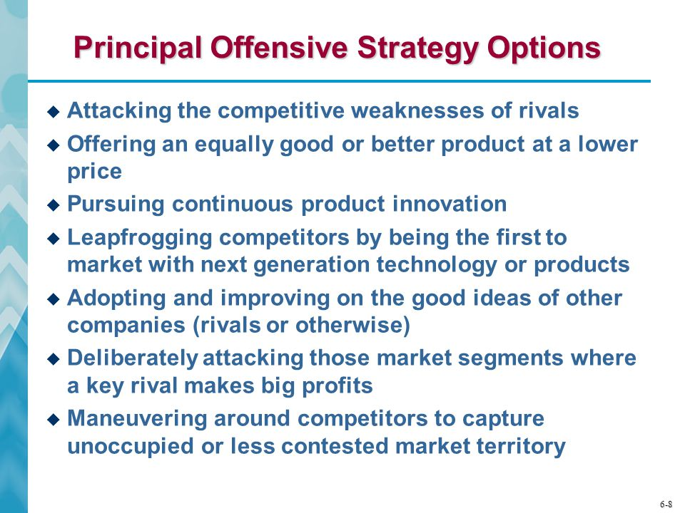 Principal Offensive Strategy Options