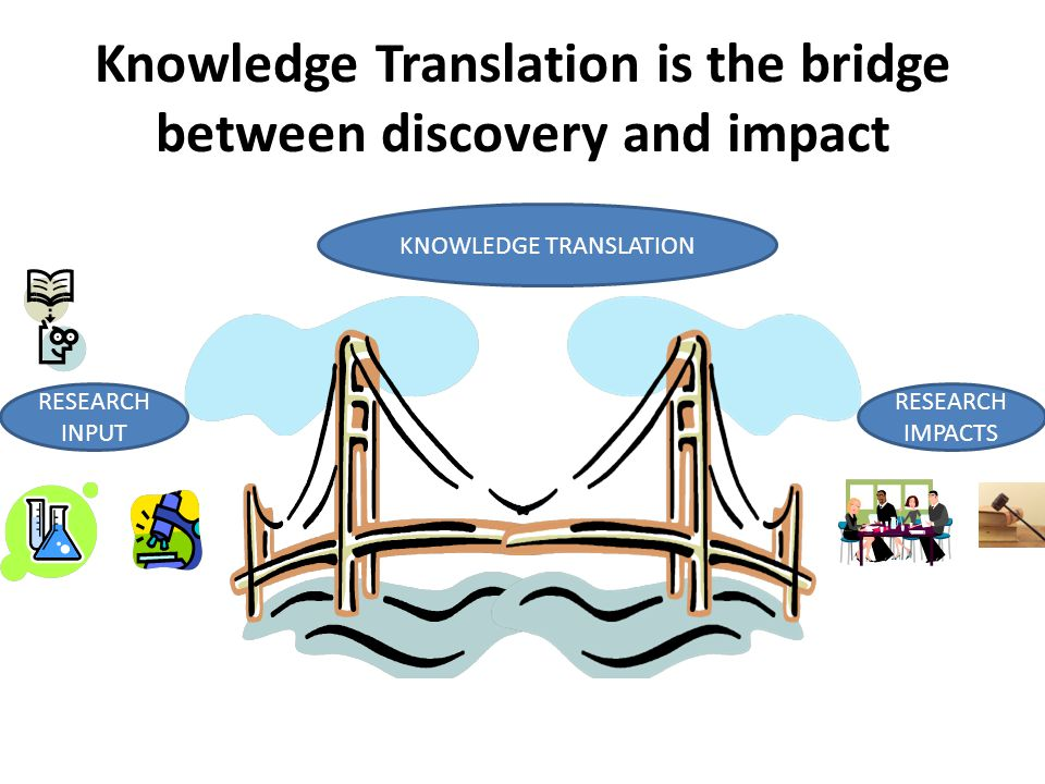 Knowledge Translation is the bridge between discovery and impact