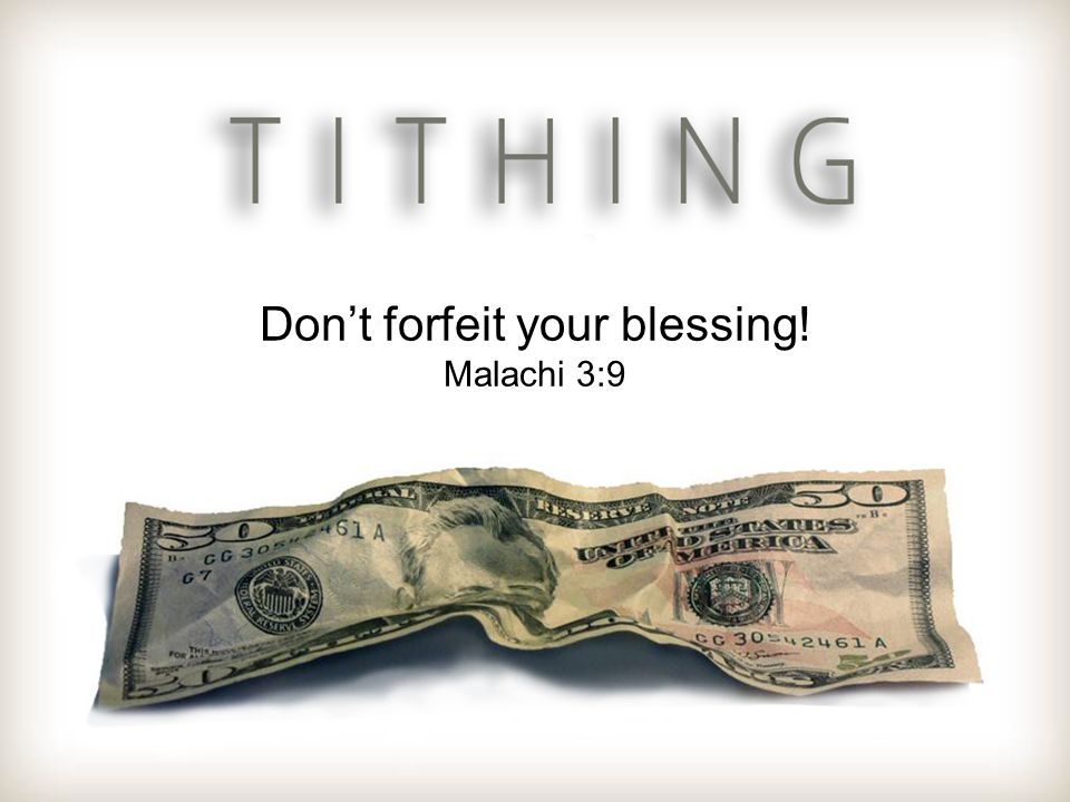 Don't forfeit your blessing!