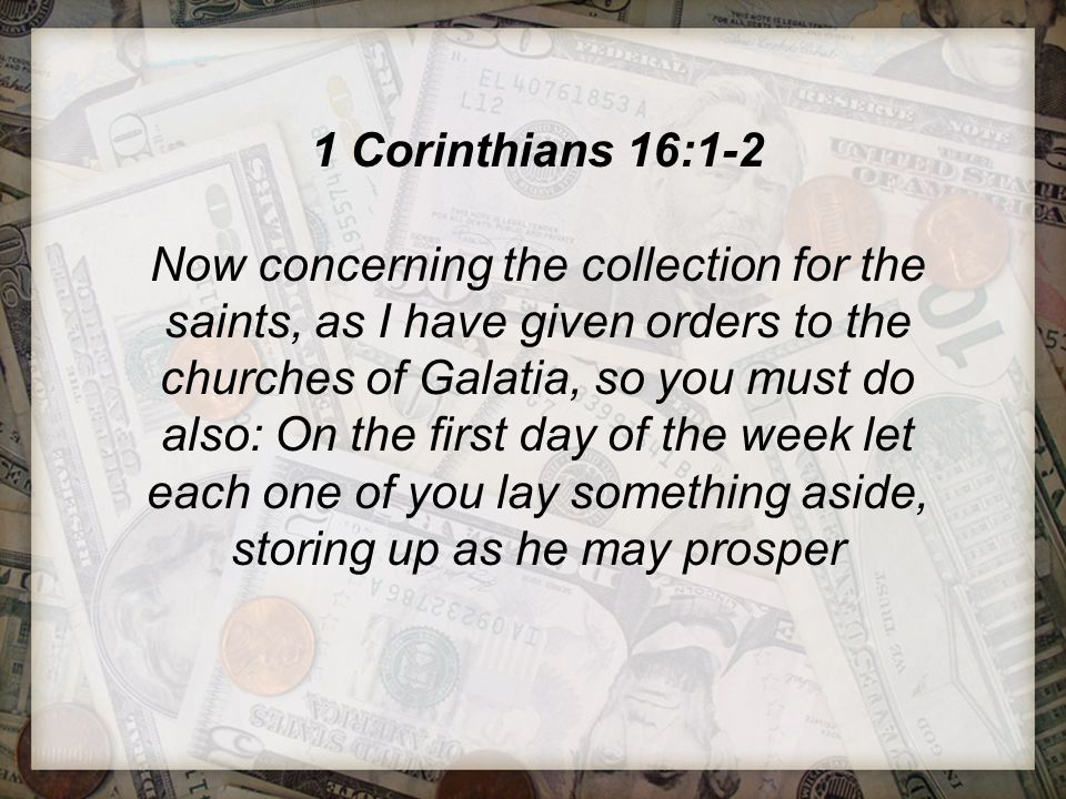 1 Corinthians 16:1-2