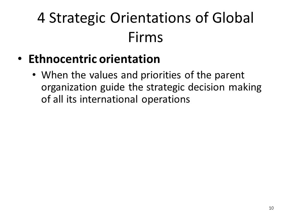 4 Strategic Orientations of Global Firms