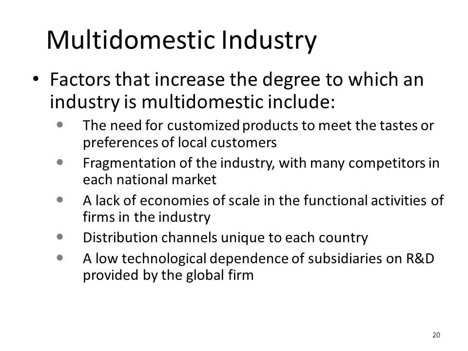 Multidomestic Industry