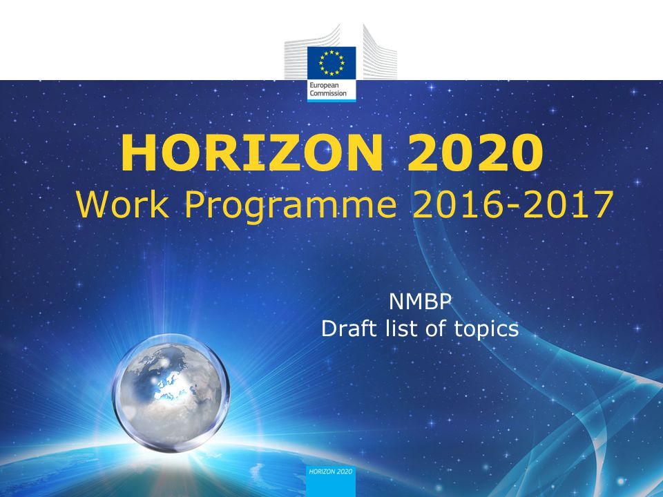 HORIZON 2020 Work Programme 2016-2017