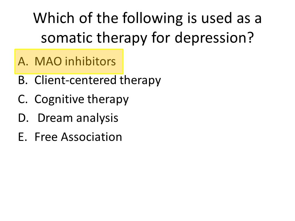 Which of the following is used as a somatic therapy for depression