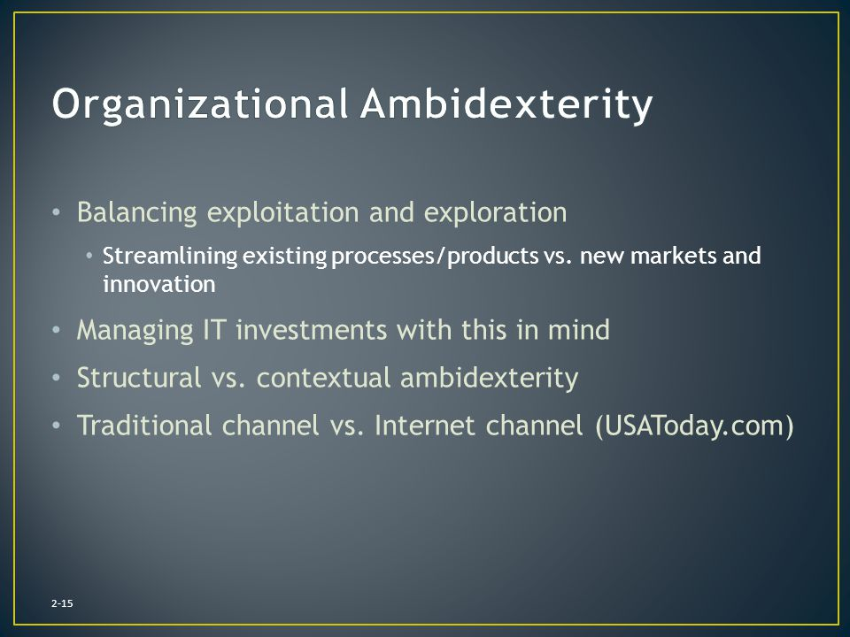 Organizational Ambidexterity