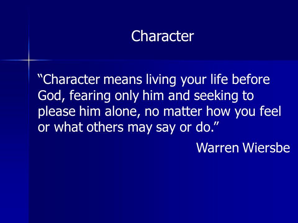 Warren Wiersbe Character
