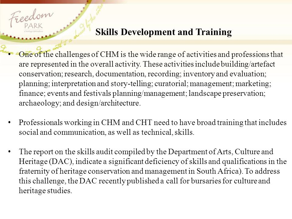 Skills Development and Training