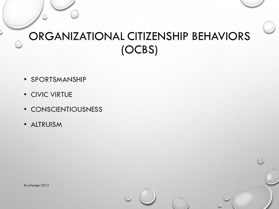 Organizational Citizenship Behaviors (OCBs)