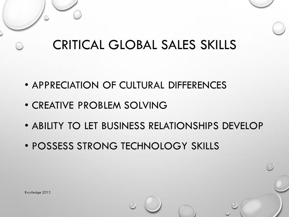Critical Global Sales Skills