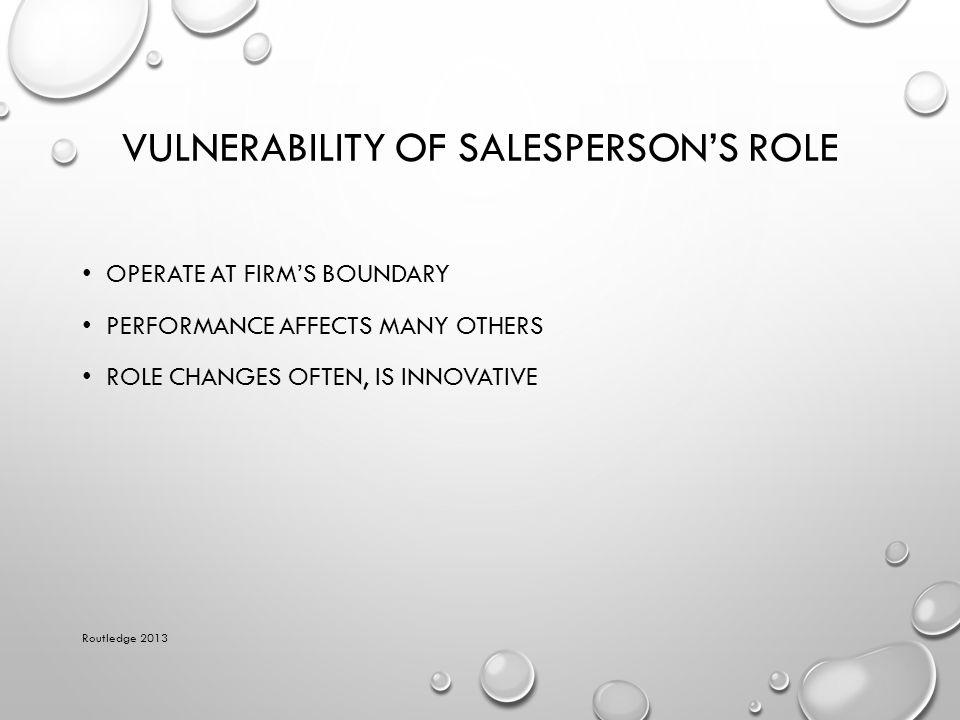 Vulnerability of Salesperson's Role