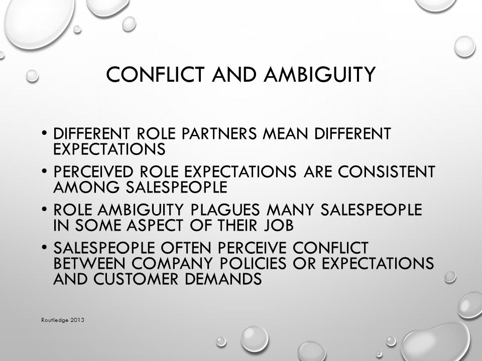 Conflict and Ambiguity