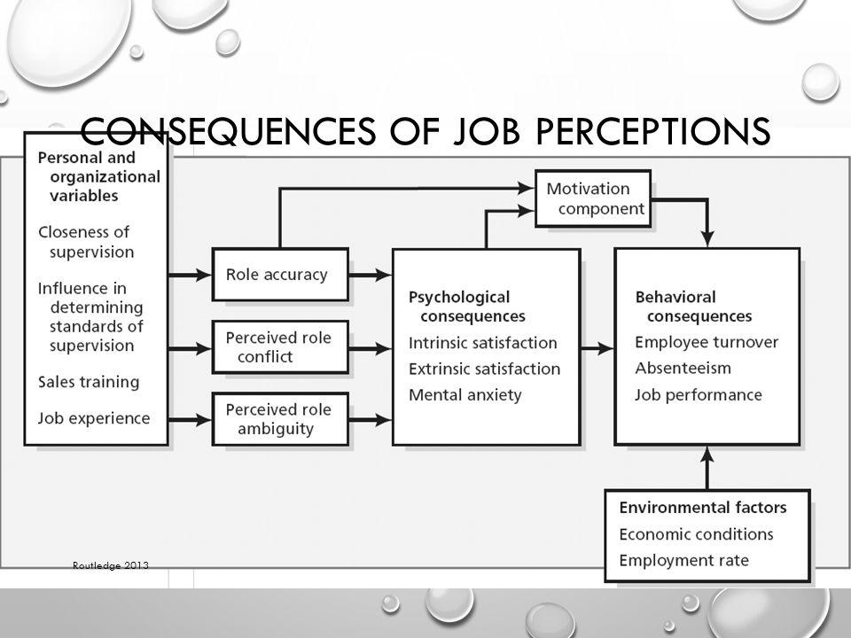 Consequences of Job Perceptions